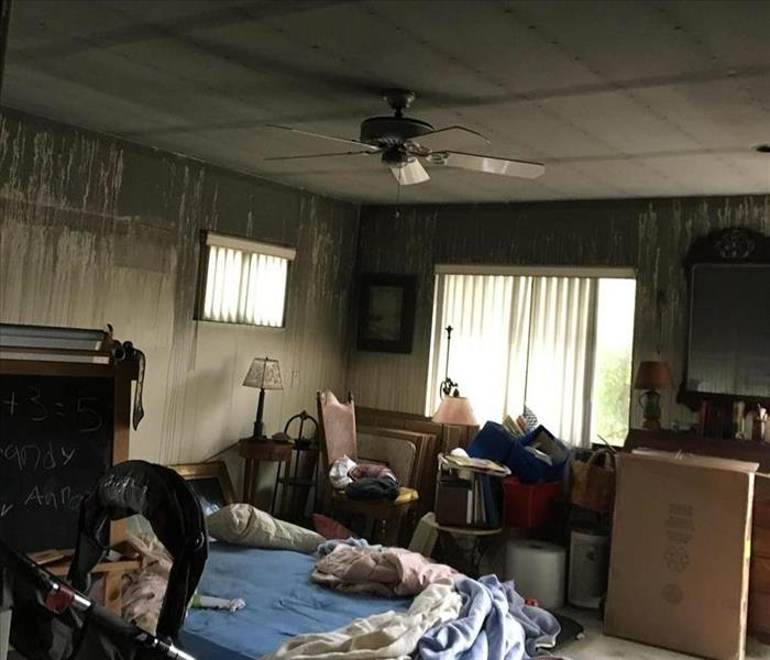 Fire Damaged Bedroom Before & After Before