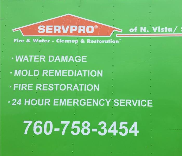 General For Immediate Service in Vista or San Marcos, Call SERVPRO